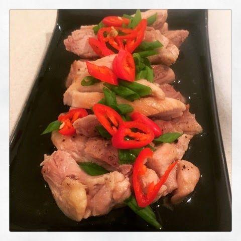 3EggsFull: Chicken with Ponzu dressing