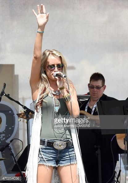 Recording artist Brooke Eden performs onstage during the ACM Charity Motorcycle Ride & Concert from Strokers Dallas to Maverick Harley Davidson during the 50th Academy of Country Music Awards on April 18, 2015 in Fort Worth, Texas.