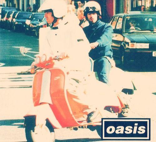 Noel Gallagher on his Italjet Velocifero