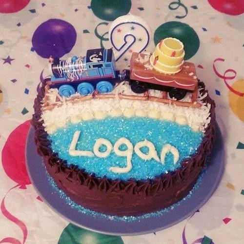 It's a party! Thomas Birthday cake pic. Thomas & Friends, January 2017