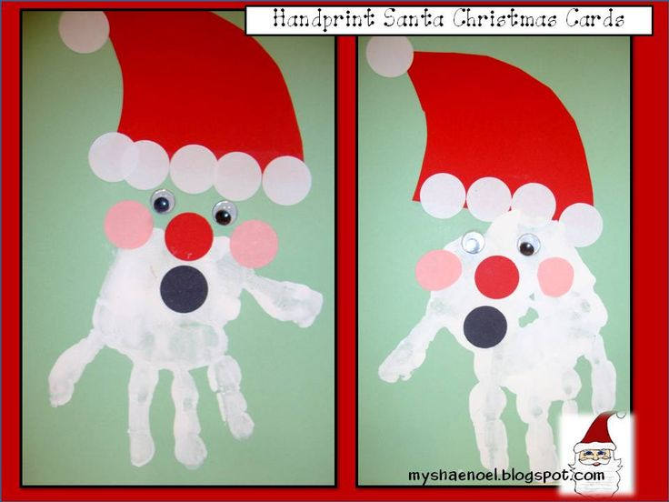 My Shae Noel  Home of Learn and Grow Designs Handprint bChristmasb bb Christmas Cards For Children To Make