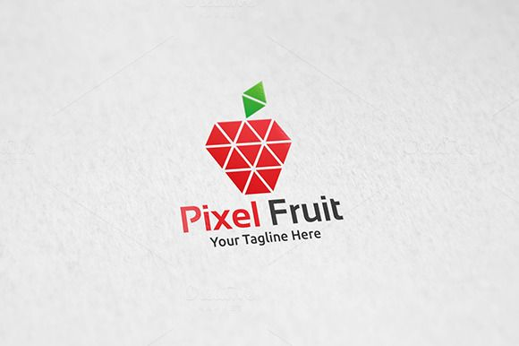 Pixel Fruit - Logo Template by Martin-Jamez on Creative Market