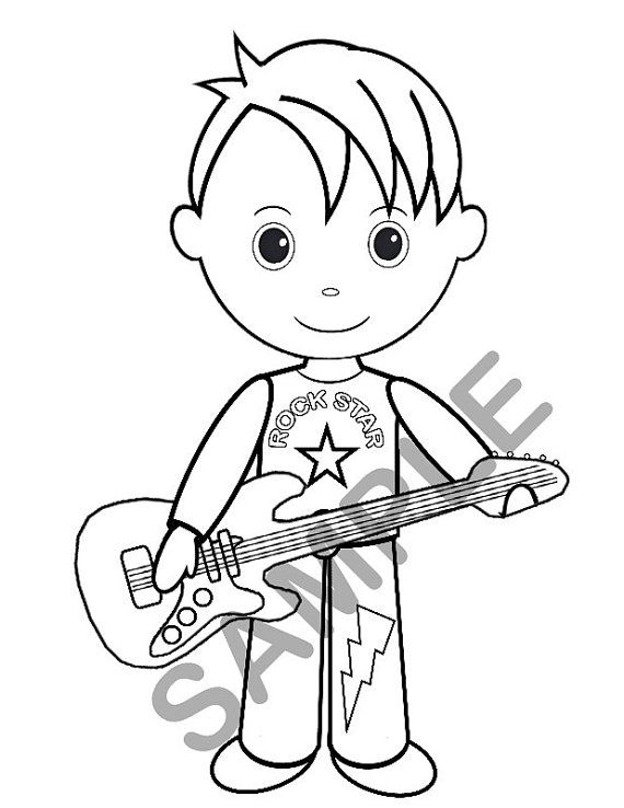 rockstar coloring pages - photo#29