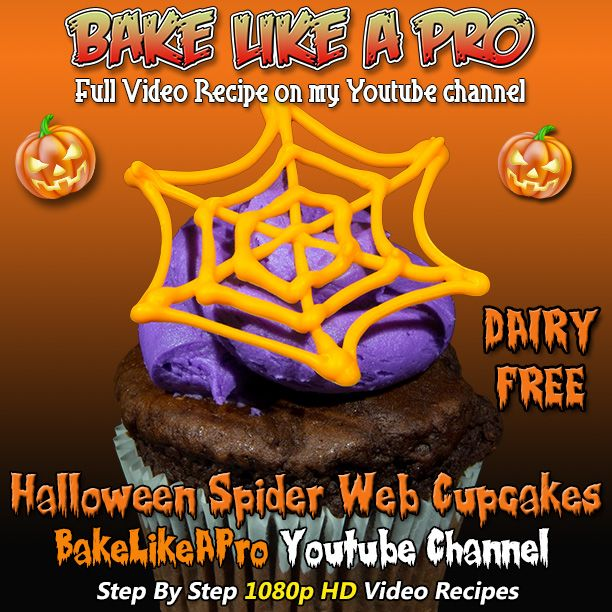 Halloween Spider Web Cupcake Recipe ► http://bit.ly/1ucapVH  All Butter Vanilla Buttercream Frosting Recipe: ►http://youtu.be/WGm9KqX1xFA  Halloween Spider Web Cupcake Decorations Recipe  ►http://youtu.be/T7LgCYiNXd8  Thanks for watching :-)  ►My Facebook Page: http://www.facebook.com/BakeLikeAPro  Please subscribe, like and share if you can, I do appreciate it. http://bit.ly/1ucapVH