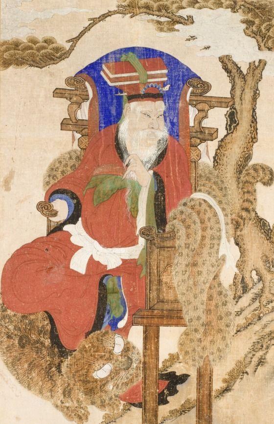 Mountain Deity -  Korea, Joseon dynasty (1392-1910), 19th century Paintings