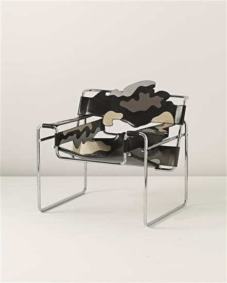 ALESSANDRO MENDINI 'Wassily' chair, from the 'Redesign di sedie del movimento moderno' series, designed 1983  Leather, chrome-plated tubular metal. 80 x 87 x 65 cm (31 1/2 x 34 1/4 x 25 5/8 in) Produced by Alchimia, Italy.