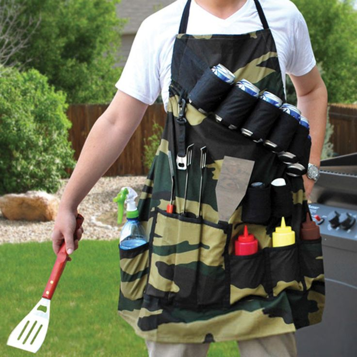 Catapult your BBQ-ing to the next level with the Grill Sergeant. This 100% cotton apron features 9 multi-purpose pockets, a built-in bottle opener, and a 6-can bandolier. The Grill Sergeant will easil