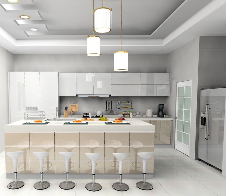 White Kitchen Cabinets High Gloss: 10 Best UV High Gloss Kitchen Cabinet Images On Pinterest