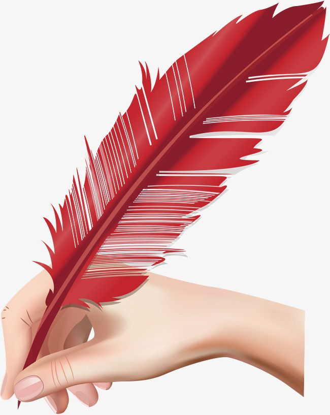 With The Red Quill In His Hand Vector Png Feather Feather Pen Png Transparent Clipart Image And Psd File For Free Download Feather Pen Quilling Feather
