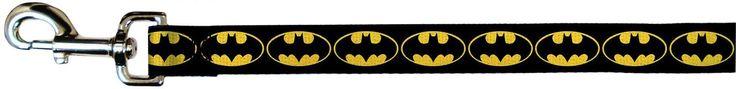 Batman DC Comics Superhero Black Back Shield Logo Fun Animal Pet Dog Cat Leash *** Check out this great product.