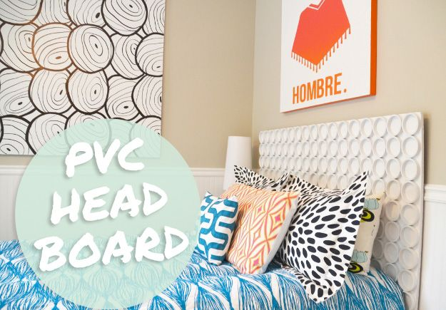 Diy Projects Bedroom Easy Diy Pvc Pipe Headboard Pvc Pipes Headboards