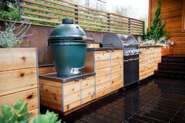 outdoor kitchen wood