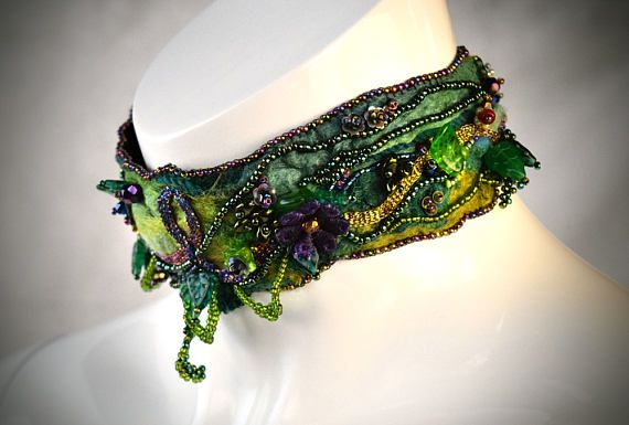 Hey, I found this really awesome Etsy listing at https://www.etsy.com/au/listing/531775545/boho-beaded-choker-forest-necklace-gift
