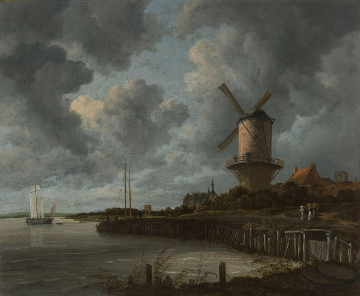 Only 9 more nights... until you can once again see this 'Tower Mill at Wijk bij Duurstede' in the Gallery of Honour. It is the ultimate Dutch landscape: low, flat, a lot of water and especially a lot of sky. And you guessed it, it's by Jacob van Ruisdael.