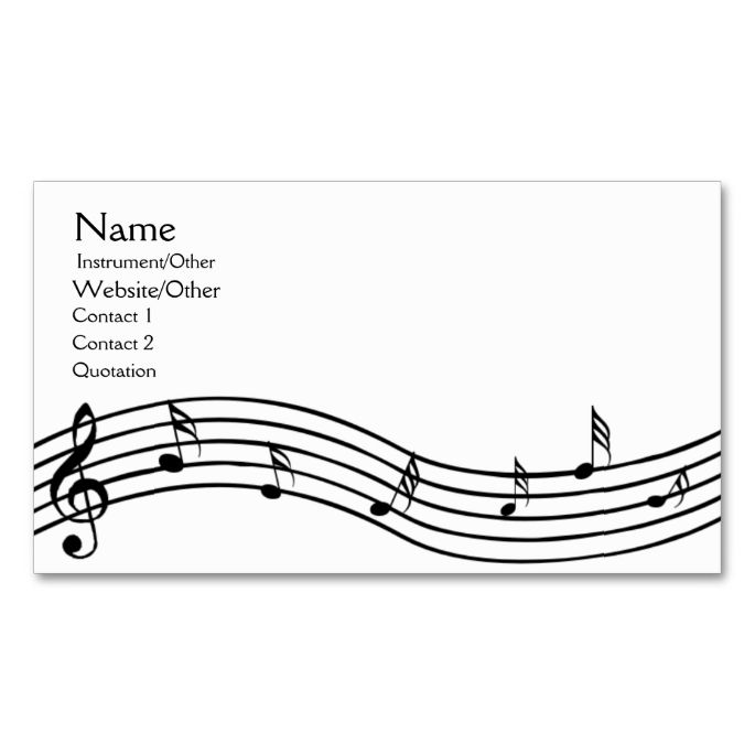 Best Music Business Card Templates Images On