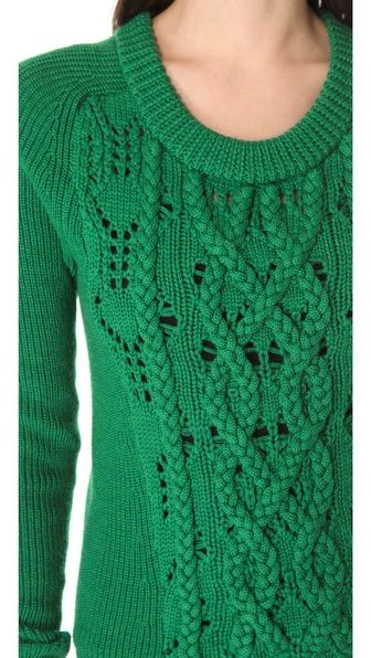 Marc by Marc Jacobs Uma Sweater: inspiration for applied i cords on simple ladder and transfer lace
