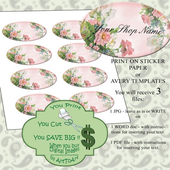 Useful for any online business. Specially one that deals in Beauty or Accessories - Printable BUSINESS STICKERS digital Collage 412 by ArtToArt, $3.25