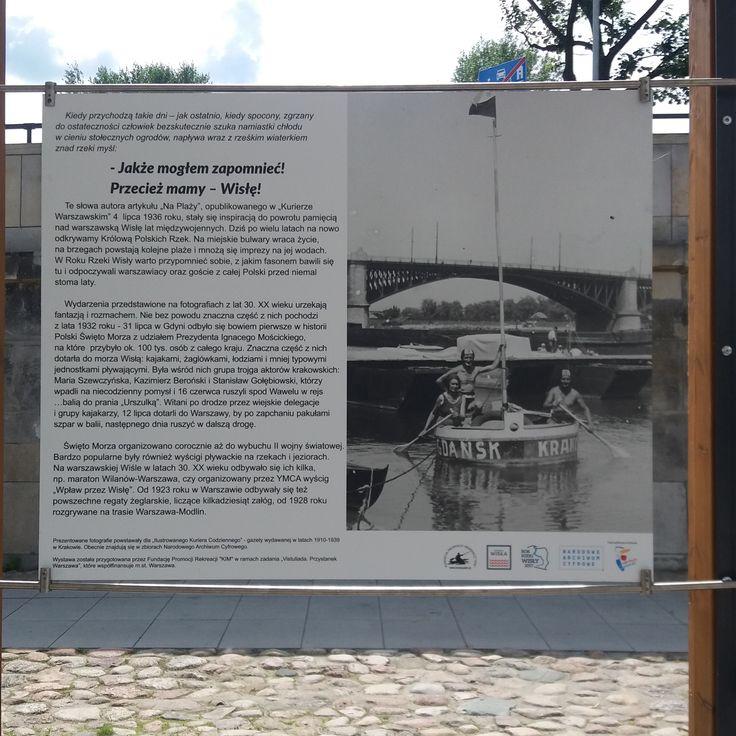 Wystawa na bulwarach wiślanych z okazji Vistuliady 2017.