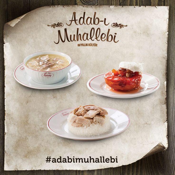 Adab-ı Muhallebi; tavuk etli çorba, tavuklu pilav ve ayva tatlısı gibi klasikleşmiş lezzetler sunmaktır.