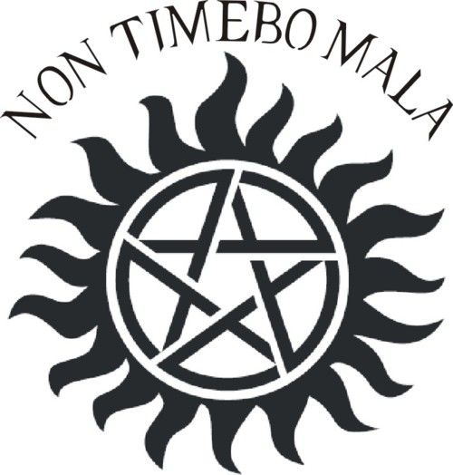"""""""I will fear no evil"""" from Latin, and is inscribed on the barrel of The Colt. I Love supernatural!!<3"""