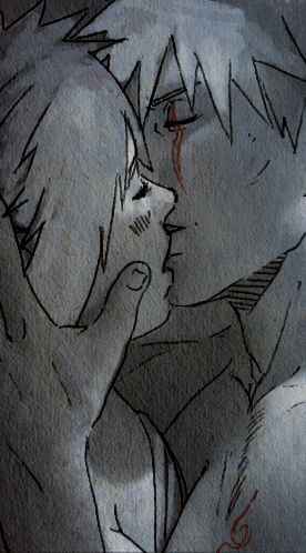 <3 Kakashi (and someone's original character) - by Kan-z-z-z-akI, DeviantArt