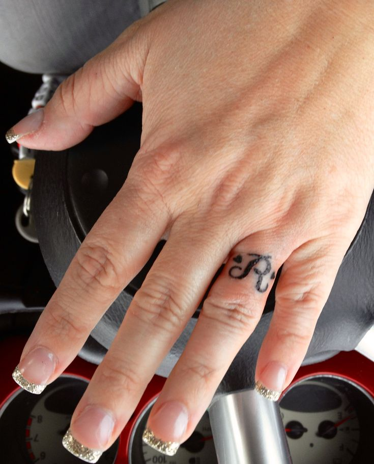 """Tattoos Tattoo Designs Piercings: Hubby's Initial With Hearts Wedding """"ring"""" Tattoo"""