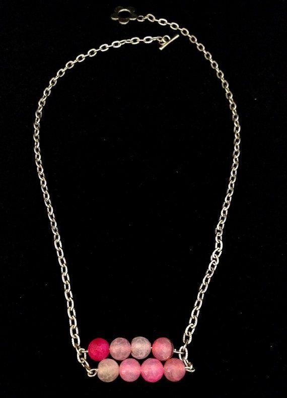 Rose quartz necklace beaded necklace by NotYourMomsJewellery, $32.00