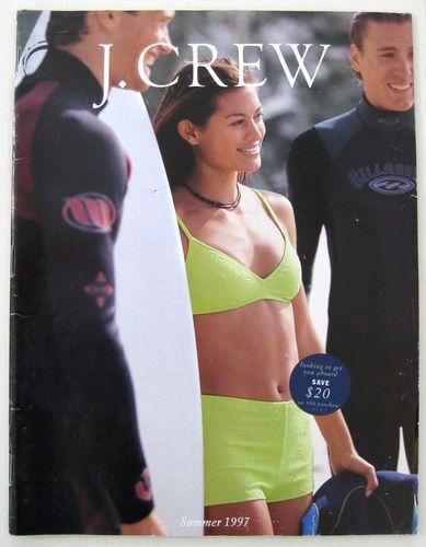 Vintage J Crew Catalog 1990s Summer 1997 – Rebecca Romijn Surfer Malia Jones | eBay