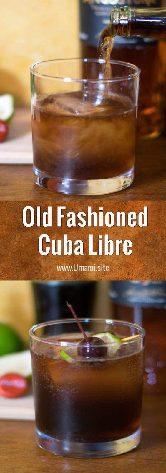 The Old Fashioned Cuba Libre is the result of a tawdry little affair between a classic Cuba Libre and a much younger mid-century Old Fashioned. Like all good affairs, this one has some nice muddling, a little rum, and a touch of Mexican Coke thrown in for good times. #cocktails #recipes #happyhour #rum