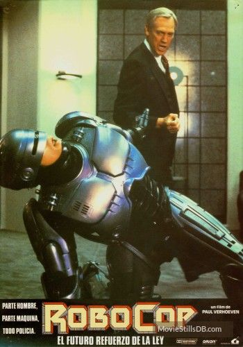 RoboCop - Lobby card with Ronny Cox & Peter Weller