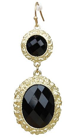 I Love the Black & Gold together & the faceted Black stones! :)