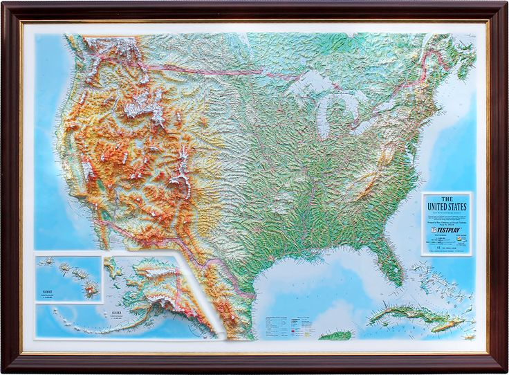 Decorative 3d Map With Panorama Effect The