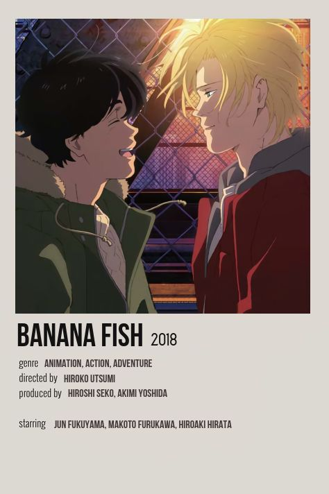 banana fish anime series minimalist
