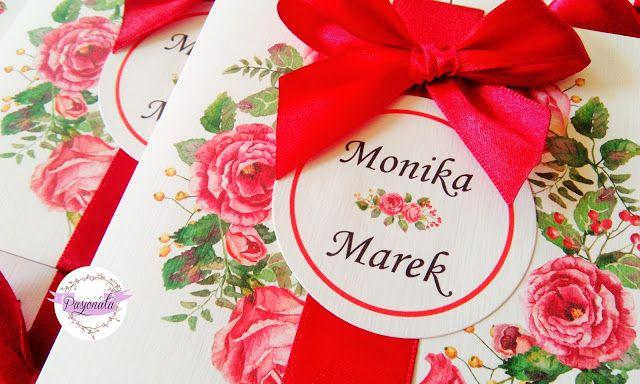 pasjonata.zaproszenia: # 123 Zamówienie pani Moniki i pana Marka