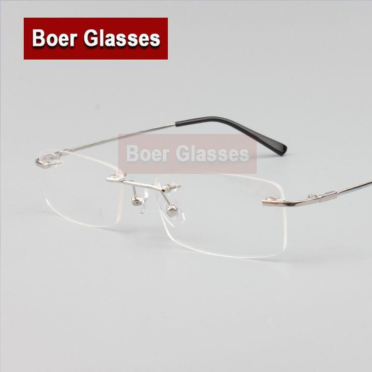 Rimless Glasses memory titanium flexible men's eyeglasses glasses prescription spectacle optical frame 8119