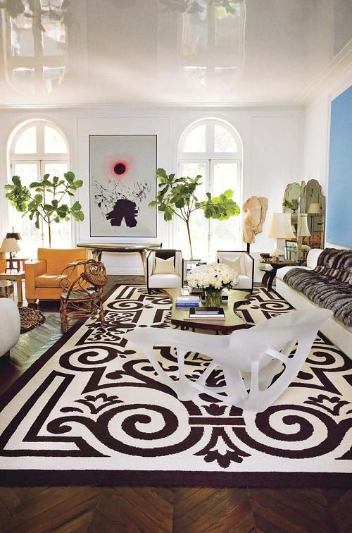 glossy white ceiling.everything~ Reed Krakoff's home
