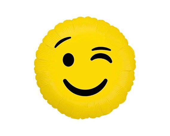 Flirty WInk Emoji Balloon Grad Party Photo Booth Emoji