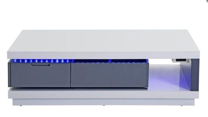 Table basse LED FEVER Blanc gris