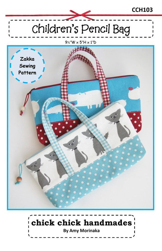 Cosmetic pouches : use fabric scraps or embroidered ribbons, love the handles