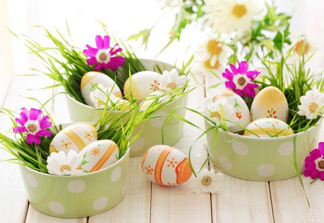 Asztali kosárkák húsvétra