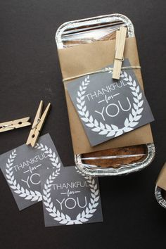 'Thankful For You' Neighbor Gift and Free Printables
