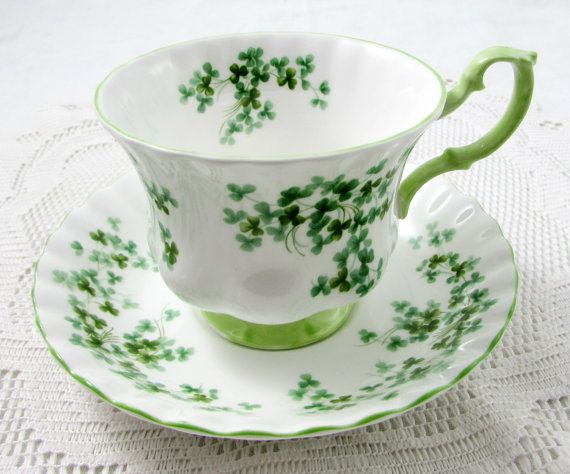 jewelry stores Royal Albert Shamrock Tea Cup and Saucer Vintage by TheAcreage