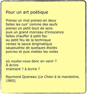 Raymond Queneau - Pour un art poétique