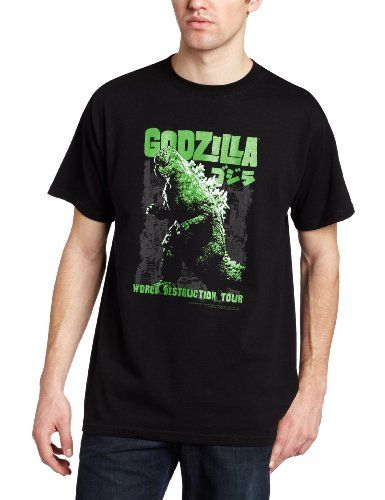 Impact Men's Godzilla World Destruction Tour T-Shirt - http://geekz.technology/impact-mens-godzilla-world-destruction-tour-t-shirt