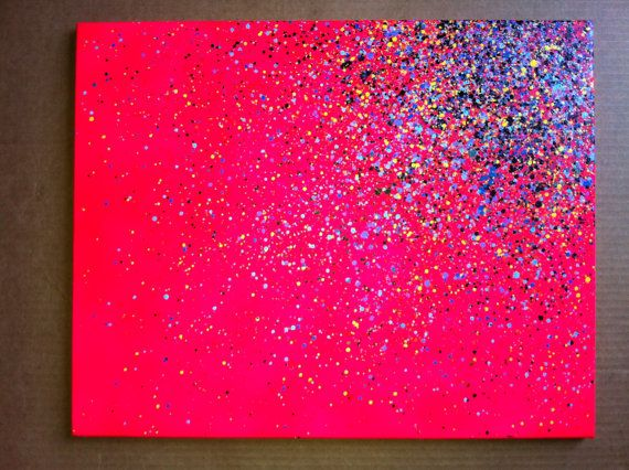 16x20 Paint Splatter Canvas, just need paint glitter and glue!