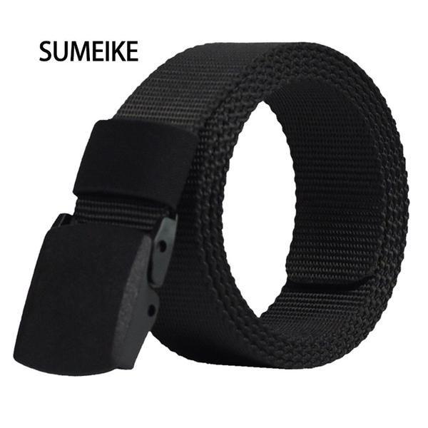 FuzWeb:Automatic Buckle Nylon Belt Male Army Tactical Belt Mens Military Waist Canvas Belts Cummerbunds High Quality Strap