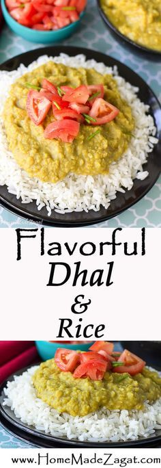 A flavorful, low simmer, no fuss recipe for dhal made from split peas and served with rice or even roti, bread or naan.