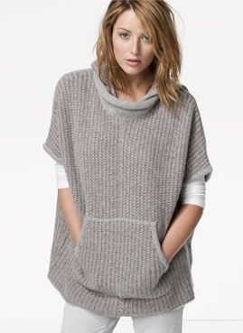 Could do this with a well-loved, oversized sweatshirt. Much less grubby for lazy days.