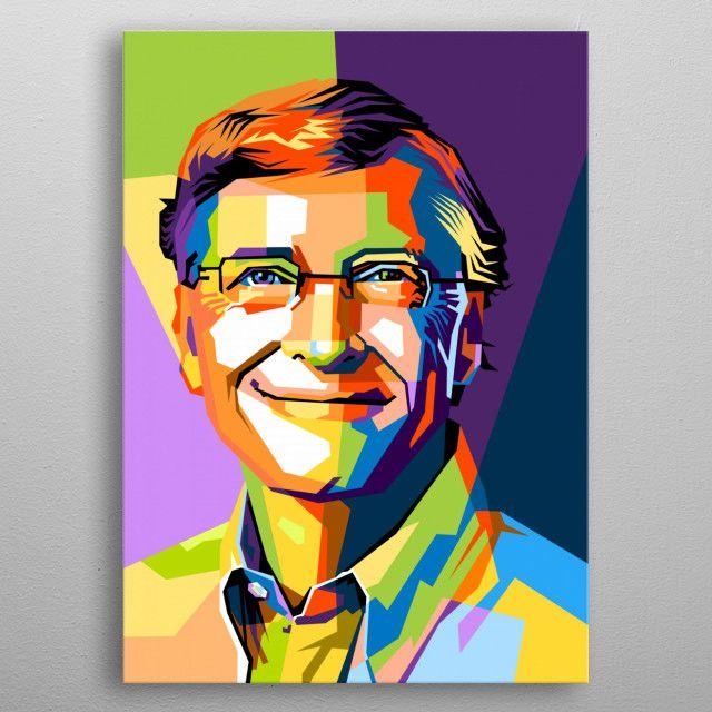 Bill Gates Pop Art Poster Print Metal Posters Di 2020