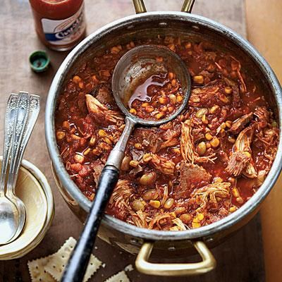 Chicken-and-Brisket Brunswick Stew | Brunswick stew is always a crowd-pleaser in the South. We combine chicken and tender beef brisket in this hearty version. You won't be able to get enough. | SouthernLiving.com